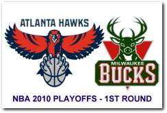 NBA 2010 Playoffs 1st Round – Atlanta Hawks vs Milwaukee Bucks