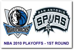 NBA 2010 Playoffs 1st Round - Dallas Mavericks vs San Antonio Spurs