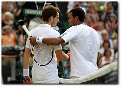 Wimbledon 2010: Andy Murray beats Jo-Wilfried Tsonga, advances to Semifinals