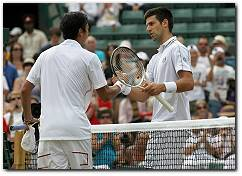 Wimbledon 2010: Novak Djokovic beats Yen-hsun Lu, advances to Semifinals