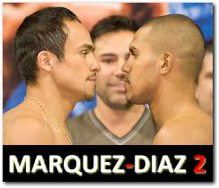Marquez vs Diaz 2 rematch boxing fight July 31, 2010