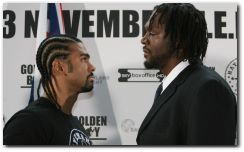 David Haye vs Audley Harrison Boxing Fight November 13