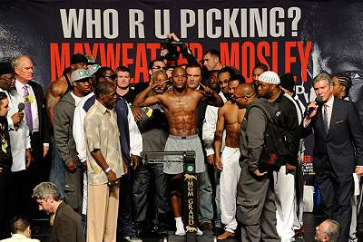 Mayweather-Mosley Weigh-in Photos / Images April 30, 2010