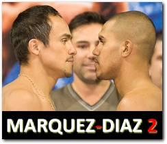 Marquez vs Diaz 2 rematch boxing fight July 31, 2010